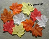 Frosted Lucite Maple Leaf Beads